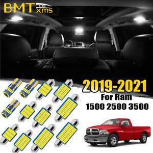 17 White LED interior lights package kit for 2019-2021 Dodge Ram 1500 2500 3500