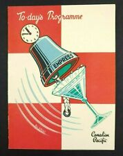 Canadian Pacific Empress of France Todays Programme October 1956 - Kay Stewart