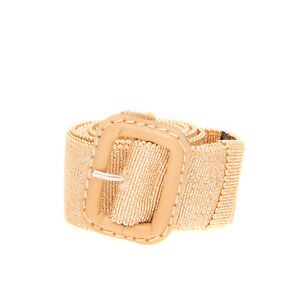 RRP €110 ASPESI Waist Belt Size 42/M 80/32 Lame Effect Pin Buckle Made in Italy