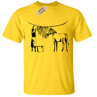 ZEBRA BANKSY MENS T-SHIRT GRAFFITI STREET ART URBAN RETRO FUNNY DESIGN COOL