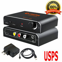 192kHz Optical Coaxial Toslink Digital to Analog Audio Converter Adapter RCA L/R