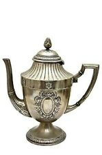 "Splendid Quality Antique Late 19C WMF Antler-Marked Neo-Classic Tea Pot H 10"""