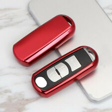 Red Soft TPU Keyless Remote Key Fob Cover Case For Mazda 3 6 CX5 CX7 CX-9