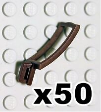 NEW Lego - Castle Figure Accessory x50 Dark Brown Scabbard - Gear Sword Holder