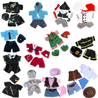 """COSTUMES pirate,chef,fireman - BUILD YOUR OWN BEAR - 16""""/40cm TEDDY BEAR CLOTHES"""
