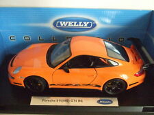 PORSCHE 911 997 GT3 RS orange schwarz 2007 von WELLY 1:18 NEU  RAR