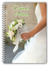 A5 PERSONALISED WEDDING NOTEBOOK/BRIDE TO BE PERSONALISED GIFT/ LINED PAPER/ 04