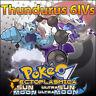Thundurus 6IV ☀️ Shiny or not 🌙 Battle Ready Pokemon Sun Moon Ultra SM USUM