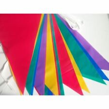 Multi Coloured PVC Bunting Banner 10 Metre Long 20 Flags for Party Decoration