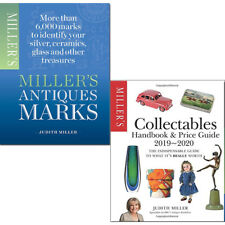 Judith Miller Collectables Handbook & Antique Marks 2 books collection set pack