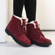 Women Winter Snow Boots Keep Warm Short Martin Ankle Boots Plus Size 10 ycx