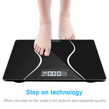 Digital Personal Heath Fitness LCD Scale 180kg/396lb Bathroom Body Glass Weight