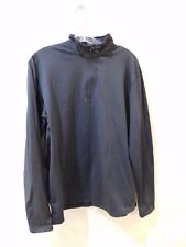 RefrigiWear Adult LARGE Black 1/4 Zip Pullover Jacket ______________ R6B4