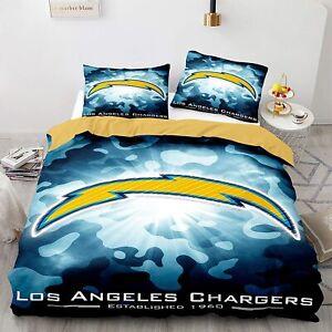 Los Angeles Chargers Bedding Set Duvet Cover & Pillowcase 3PCS Quilt Cover Set
