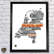 Holland National Soccer Team Poster - Nederland Oranje Van Persie Ajax Robben