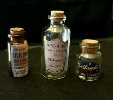 New listing Vintage Style Fishing Line Treatment Glass Bottles.Weber + Artist Handcrafted