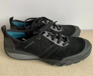 Merrell Ladies Black Suede Pumps/Trainers. Size 4. Worn Once.
