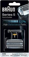 Braun Elektrorasierer Ersatzscherteil 51S, kompatibel mit Series 5 Rasierern