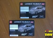IN STOCK - LEGO 5005665 EXCLUSIVE LICENCE TO BUILD ASTON MARTIN DB5 (2018) - NEW