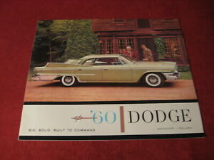1960 Dodge Large Prestige sales Brochure booklet Catalog Book Old Original