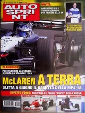 Autosprint 2 2003 McLaren a terra. Slitta a giugno il debutto della MP4-18