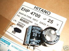 2 Condensateurs Électrolytiques 4700uF 25V PSU Lissage Amp (372)
