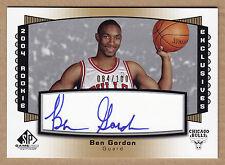 04-05 2004-05 SP Game Used Rookie Exclusives Ben Gordon Auto RC #'d /100 MINT
