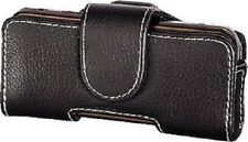 Hama 75506 Mobile Phone Holster (Size 3) - Black Real Leather Exclusiz