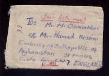 AFGHANISTAN 1976 REGISTERED COVER franked on CLOTH POUCH to EMBASSY in GB
