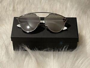 Authentic NWT Dior So Real Studded 59mm Brow Bar Sunglasses 085L-DC