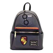 de9f4d0cad9 Loungefly Harry Potter Gryffindor Grey Mini Backpack NEW Bag School
