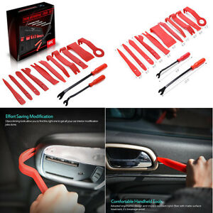 13 Pcs Universal Car Door Panel Trim Dashboard Clips Fastener Removal Tools Kit