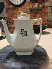Real Vintage English Coffee Pot Ironstone By WM Adams & Sons England Micratex