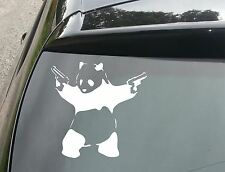 Banksy Panda with Guns Car/Window JDM VW EURO DUB Vinyl Decal Sticker