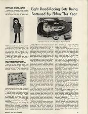 1964 PAPER AD Mattel's Scooba Doo Beatnik Doll Eldon Slot Car Race Set Daytona