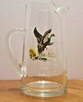 Vintage Cocktail/Juice Pitcher with Black Duck Decal