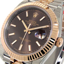 ROLEX 126331 DATEJUST ll 41 mm EVEROSE PINK GOLD JUBILEE CHOCOLATE BROWN