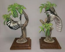"""1967 Royal Worcester Dorothy Doughty BIRD Sculptures """"LITTLE DOWNY WOODPECKERS"""""""