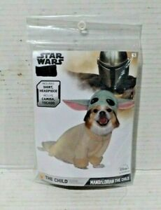 New!! Disney Plus Star Wars The Mandalorian The Child Pet Dog Costume Size Small