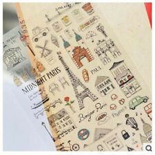 Korea PVC DIY Decorative sticker midnight Paris Diary Photo Scrapbook Gift Craft