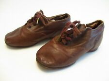 ANTIQUE VICTORIAN LEATHER BABY DOLL SHOES LACE UP LEATHER SOLE ADORABLE CLEAN