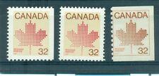 EMBLEMA, ACERO - MAPLE LEAF CANADA 1983 Mi. 863E, 865 A-D Common Stamps + Coil