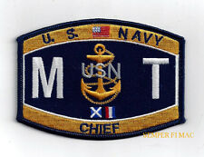 *MTC CHIEF MISSILE TECHNICIAN MT RATING HAT PATCH USS US NAVY PIN UP ENLISTED