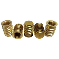 Blind Self Tapping Inserts Brass: M5 To M10 (5 Pack)