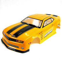 H046 1/10 Scale Drift Car On Road Touring Body Cover Shell RC Yellow Stripes