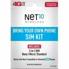"""New listing Net10 - Bring Your Own Phone """"Gsm"""" 3-in-1 Sim Card Kit (4G Lte) - """"At&T"""""""