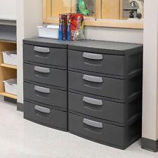Sterilite 4 Drawer Unit Flat Gray