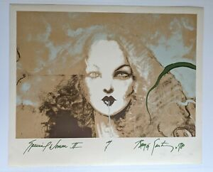 Ramón Santiago Lithograph Special Woman II 1980 Signed And Numbered