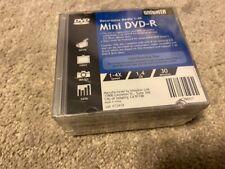 Windata 4X Mini DVD-R Media 1.46GB 10 Pack in Case Factory Sealed Brand New