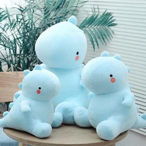 A Cute Blue Dinosaur Plush Toy Stuffed Doll Soft Pillow Kids Birthday Xmas Gift